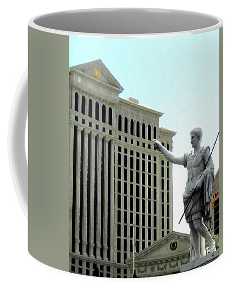 Caesars Palace Coffee Mug featuring the photograph Caesars Palace by Will Borden