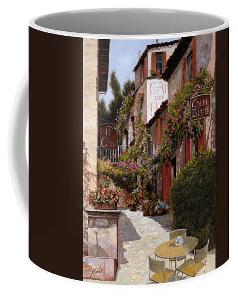 Cafe Coffee Mug featuring the painting Cafe Bifo by Guido Borelli