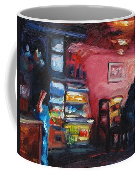 Cafe Coffee Mug featuring the painting Cafe Boulange by Rick Nederlof