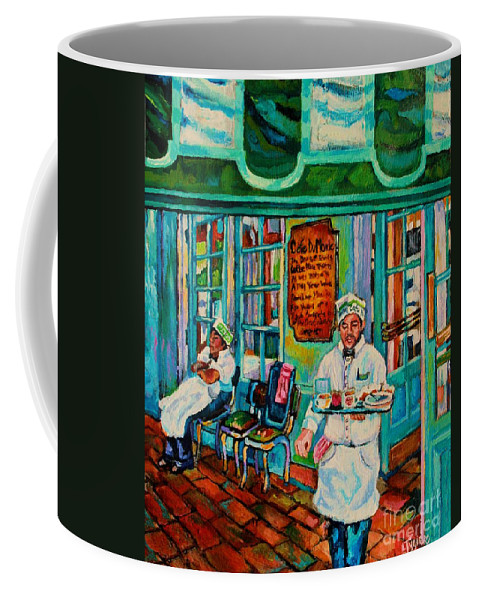 Art Coffee Mug featuring the painting Cafe Du Monde Revisited by Lisa Tygier Diamond
