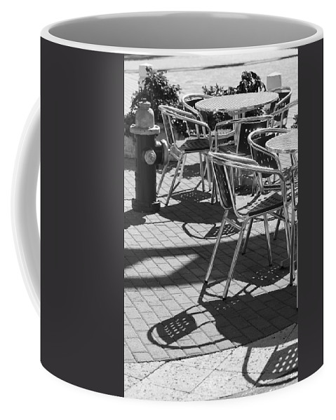 Fire Hydrant Coffee Mug featuring the photograph Cafe Hydrant by Rob Hans