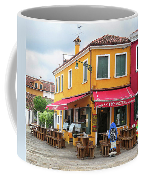 Burano Coffee Mug featuring the photograph Cafe In Burano by Dave Mills
