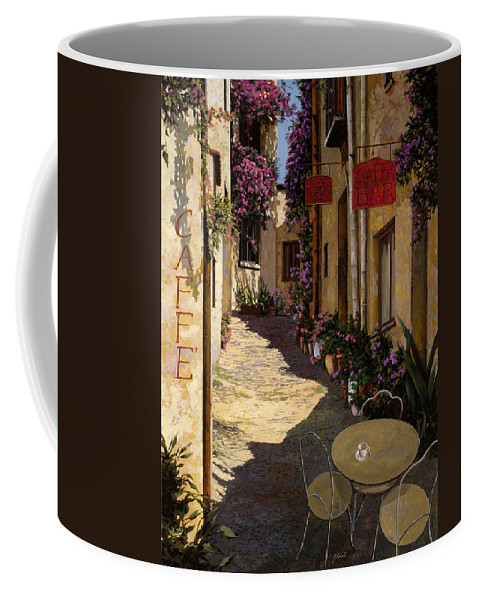 Caffe Coffee Mug featuring the painting Cafe Piccolo by Guido Borelli