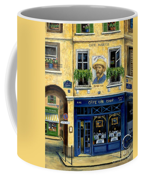 Europe Coffee Mug featuring the painting Cafe Van Gogh by Marilyn Dunlap