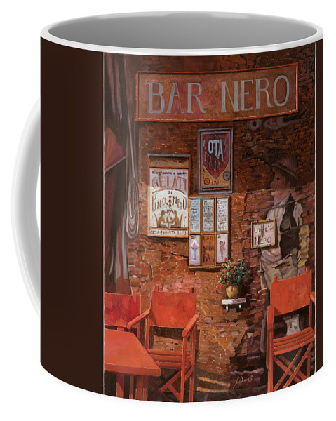 Caffe' Coffee Mug featuring the painting caffe Nero by Guido Borelli