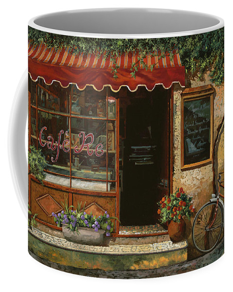 Caffe' Coffee Mug featuring the painting caffe Re by Guido Borelli