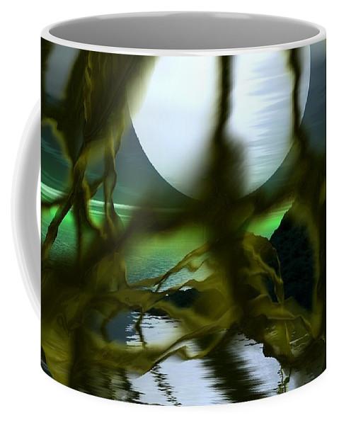 Si-fi Coffee Mug featuring the digital art Caged by David Lane