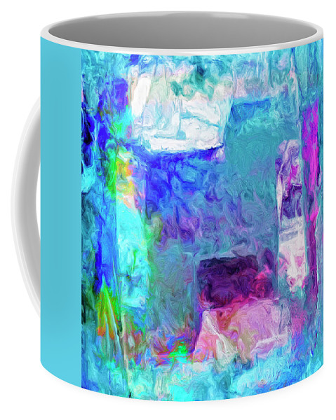 Abstract Coffee Mug featuring the painting Cairo by Dominic Piperata