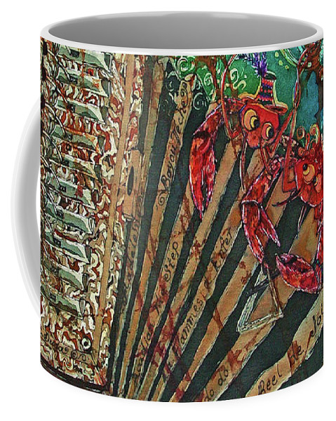 Cajun Coffee Mug featuring the painting Cajun Accordian by Sue Duda