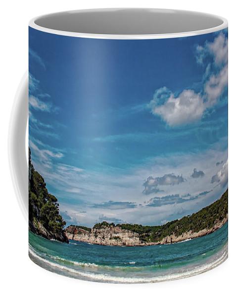 Bay Coffee Mug featuring the photograph Cala Galdana Bay Menorca by Jeff Townsend