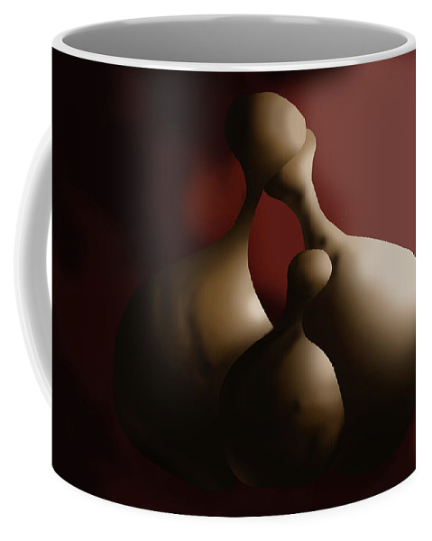 Love Coffee Mug featuring the digital art Calabash Family by Leonard Amegbletor