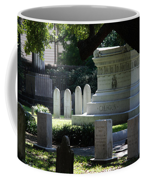 Photography Coffee Mug featuring the photograph Calhoun Is A Big Name In Charleston by Susanne Van Hulst