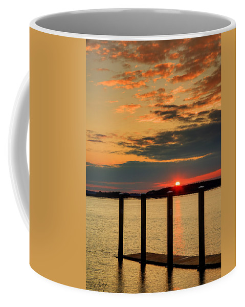 Calibogue Sound Coffee Mug featuring the photograph Calibogue Sound Sunset by Phill Doherty