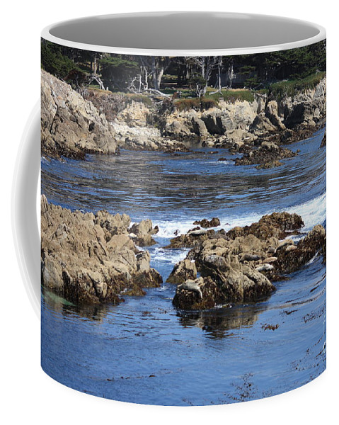 California Seaside Coffee Mug featuring the photograph California Coast by Carol Groenen