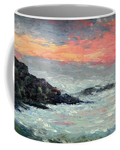 Seascape Coffee Mug featuring the painting California Coast by Gail Kirtz