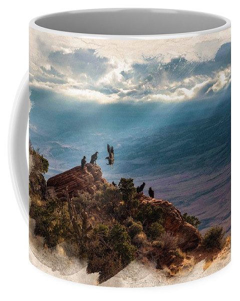 Decoration Coffee Mug featuring the digital art California Condors by Don Kuing
