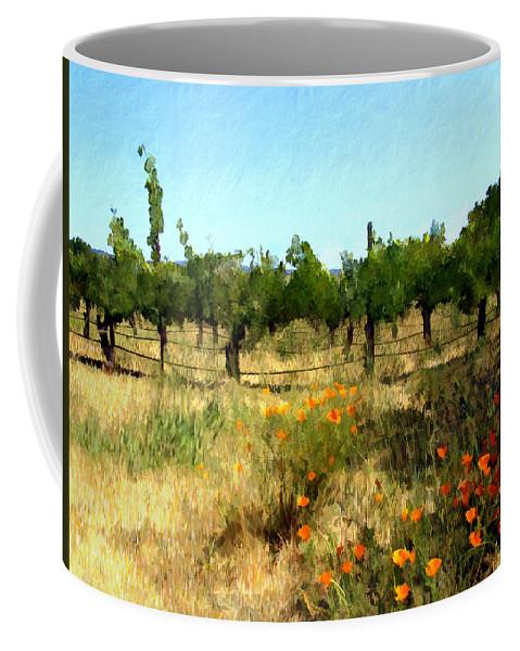 Vineyards Coffee Mug featuring the photograph California Cuvee by Kurt Van Wagner