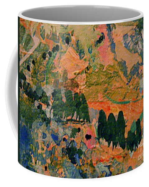 Abstract Gouache Painting Coffee Mug featuring the mixed media California Dreaming by Nancy Kane Chapman