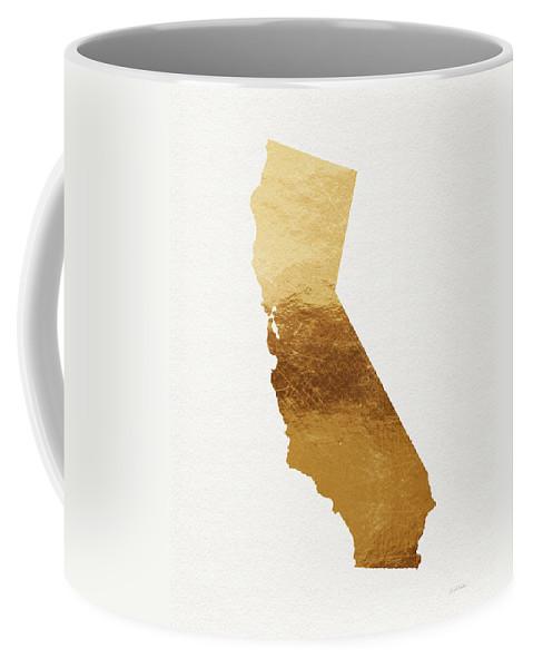 California Coffee Mug featuring the mixed media California Gold- Art By Linda Woods by Linda Woods