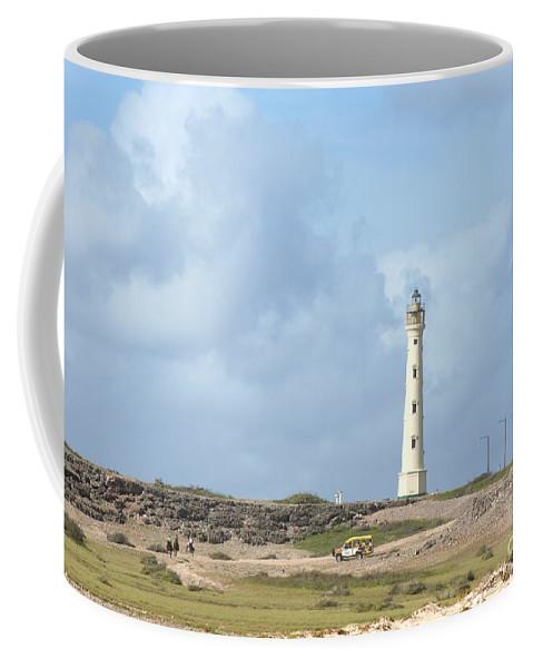 Aruba Coffee Mug featuring the photograph California Lighthouse by Thomas Marchessault