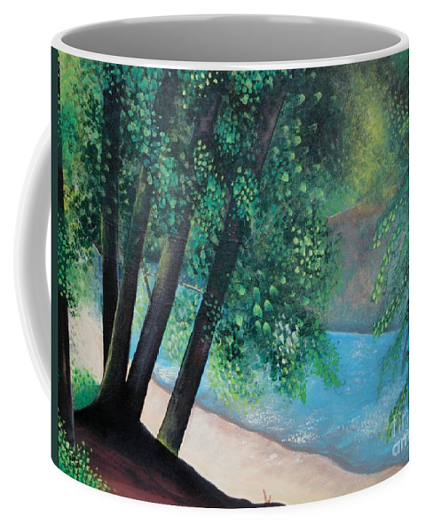 Landscape Coffee Mug featuring the painting California Magic by Helena Tiainen