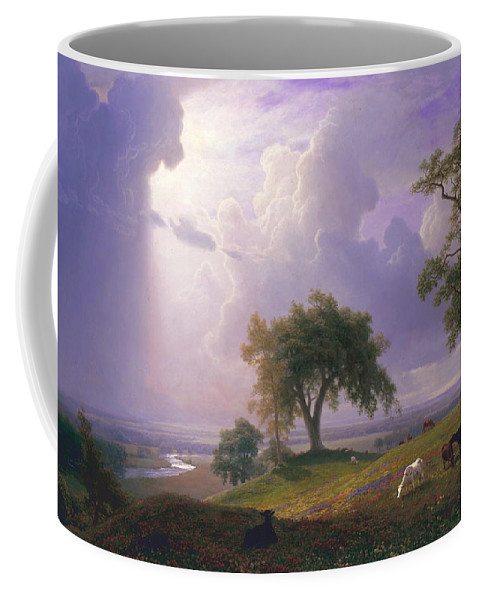 Albert Bierstadt Coffee Mug featuring the painting California Spring, C. 1875 by Albert Bierstadt