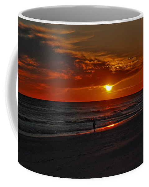 Sunset Coffee Mug featuring the photograph California Sun by Susanne Van Hulst