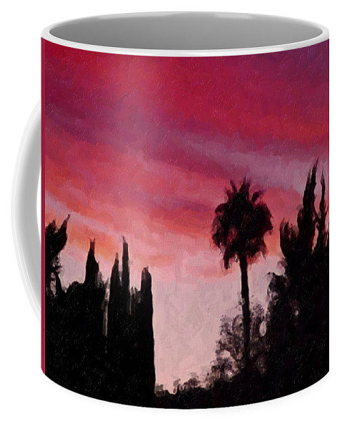 California Coffee Mug featuring the painting California Sunset Painting 1 by Teresa Mucha