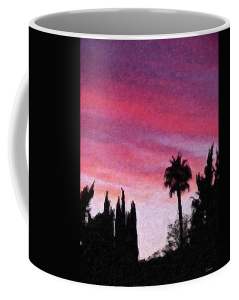 California Coffee Mug featuring the painting California Sunset Painting 2 by Teresa Mucha