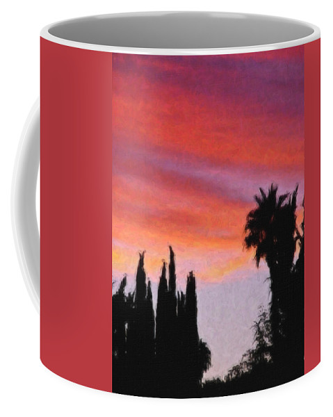 California Coffee Mug featuring the painting California Sunset Painting 3 by Teresa Mucha
