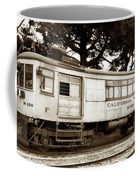 California Western Coffee Mug featuring the photograph California Western M 100 Gas Railcar Skunk Train Circa 1930 by California Views Archives Mr Pat Hathaway Archives