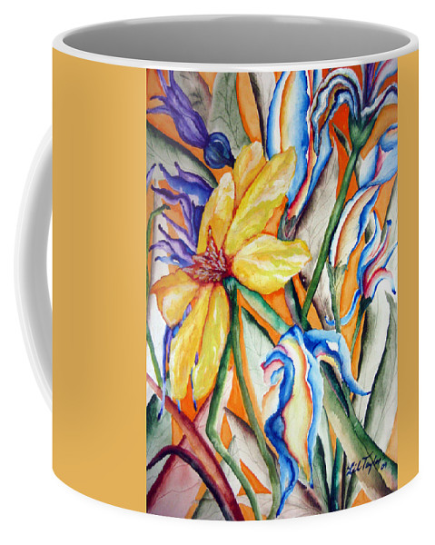 Flower Music Coffee Mug featuring the painting California Wildflowers Series I by Lil Taylor
