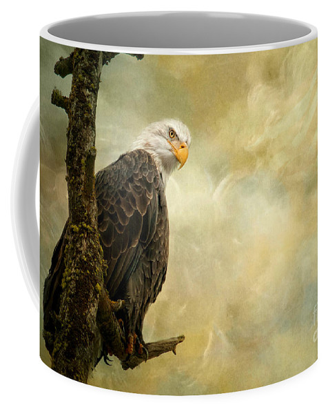 Bald Eagle Coffee Mug featuring the photograph Call of Honor by Beve Brown-Clark Photography