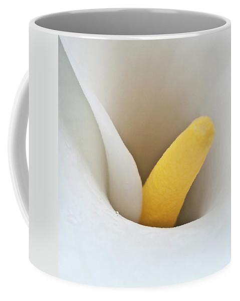 Calla Coffee Mug featuring the photograph Calla Details 1 by Heiko Koehrer-Wagner