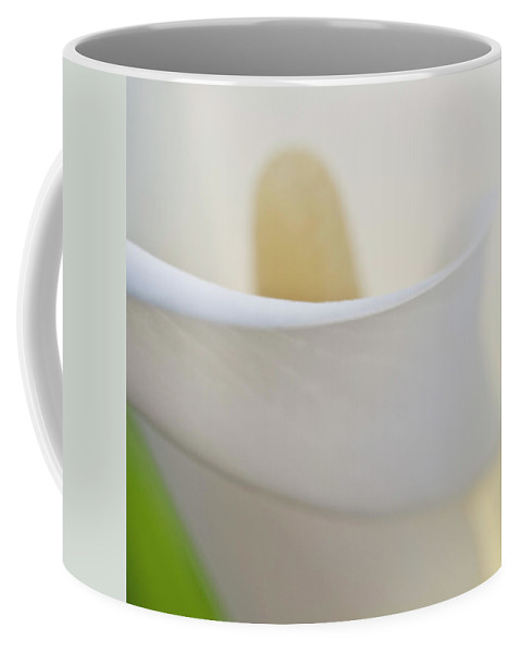 Abstract Coffee Mug featuring the photograph Calla Details 7 by Heiko Koehrer-Wagner