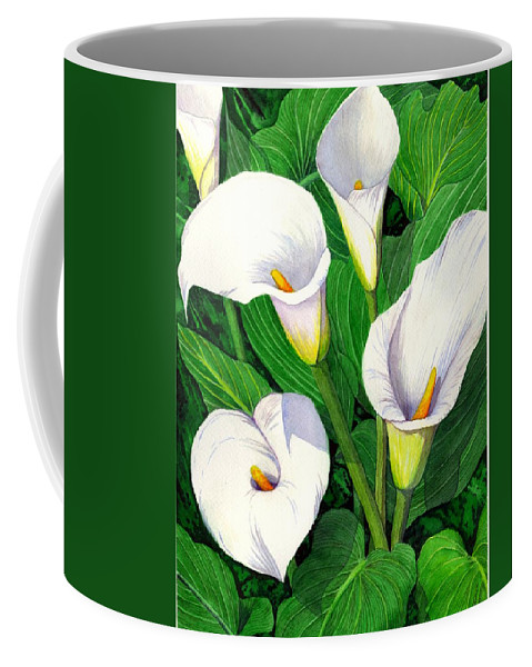 Lily Coffee Mug featuring the painting Calla Lilies by Catherine G McElroy