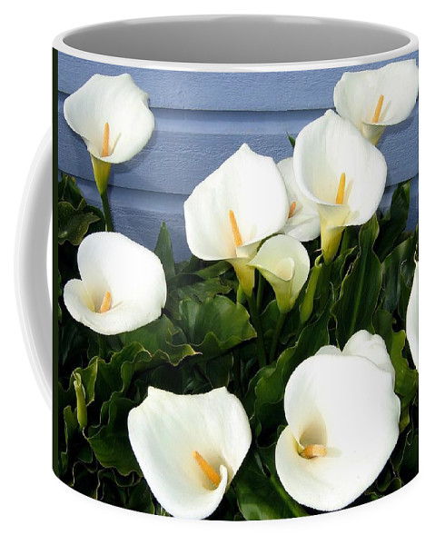 Calla Lilies Coffee Mug featuring the photograph Calla Lilies- Oregon by Will Borden