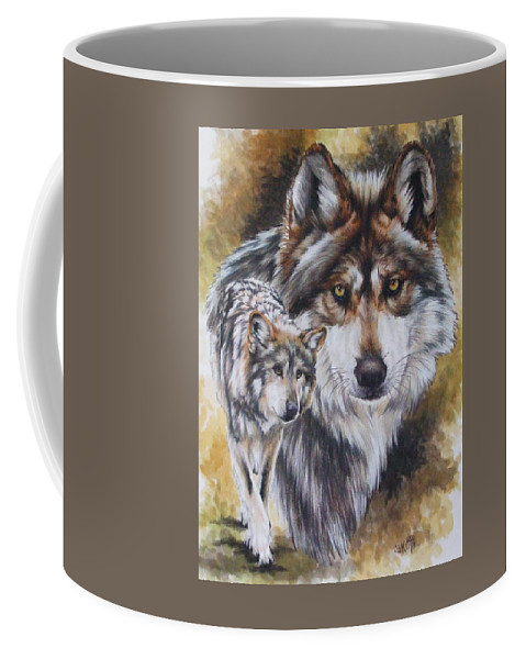 Wildlife Coffee Mug featuring the mixed media Callidity by Barbara Keith