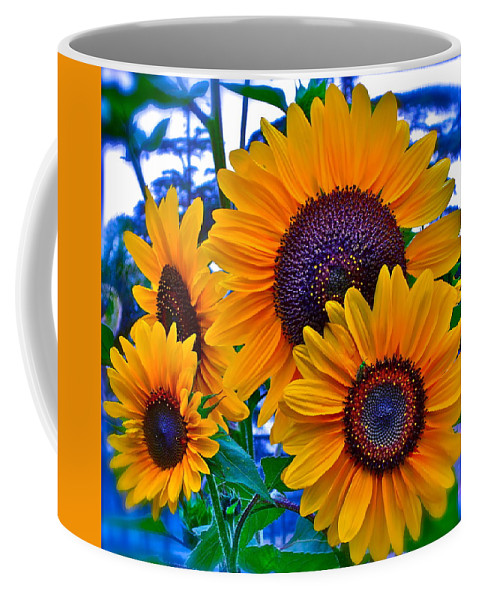 Photographs Coffee Mug featuring the photograph Callie's Crew by Gwyn Newcombe