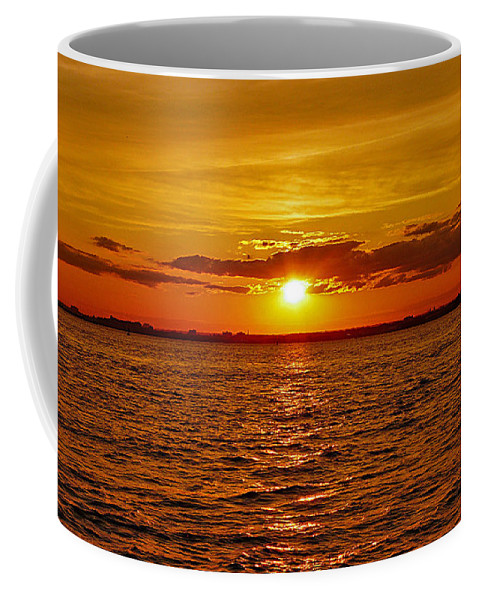 Statute Of Liberty Coffee Mug featuring the photograph Calling Us In by Kendall Eutemey