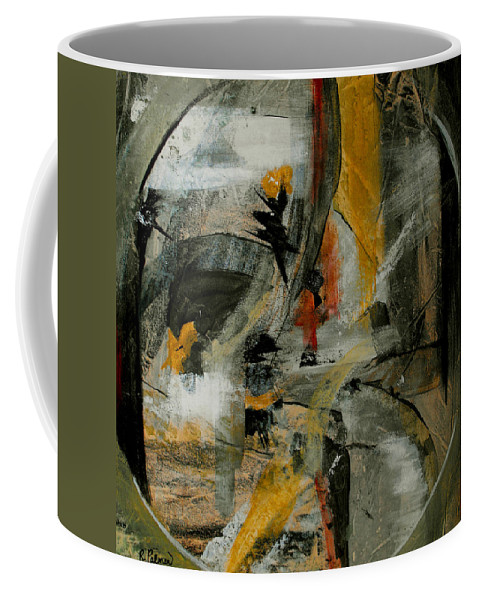 Abstract Coffee Mug featuring the painting Calm Out Of Chaos by Ruth Palmer