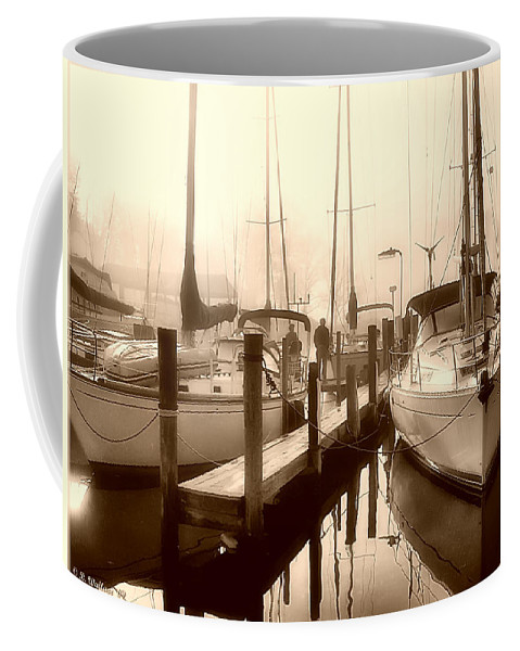 2d Coffee Mug featuring the photograph Calmly Docked by Brian Wallace