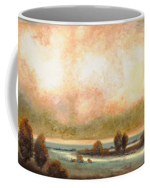 Pond Coffee Mug featuring the painting Calor Bianco by Guido Borelli