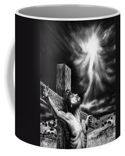Calvary Coffee Mug featuring the drawing Calvary by Peter Piatt