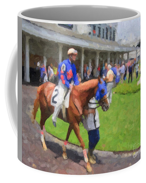 Churchill Coffee Mug featuring the digital art Calvin Borel by Jill Lang