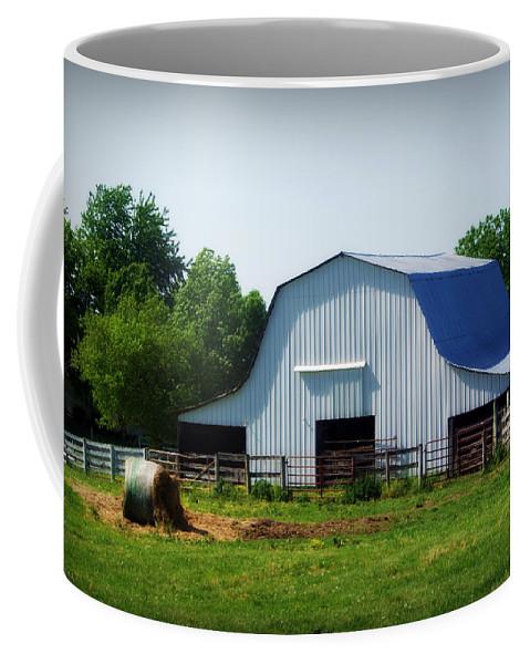 Barn Coffee Mug featuring the photograph Calvin Road Barn by Cricket Hackmann