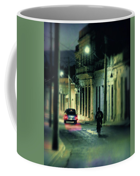 Cuba Coffee Mug featuring the photograph Camaguey Street by Claude LeTien
