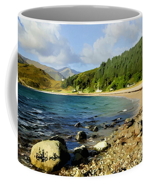 Kingairloch Coffee Mug featuring the photograph Camasnacroise Loch Linnhe by Chris Thaxter