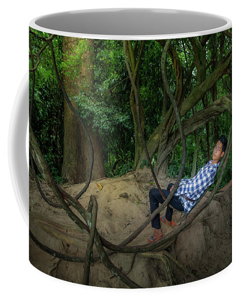 People Coffee Mug featuring the photograph Cambodian Jungle Swing by Art Phaneuf