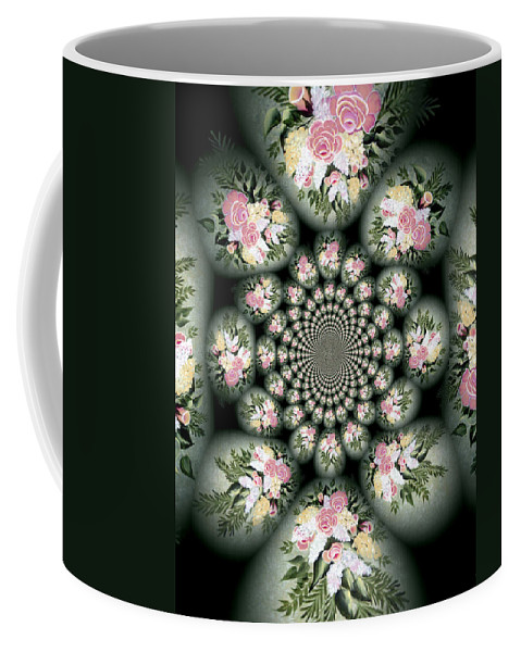 Cameo Bouquet Coffee Mug featuring the digital art Cameo Bouquet by Barbara Griffin